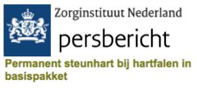 Persbericht Zorginstituut Nederland